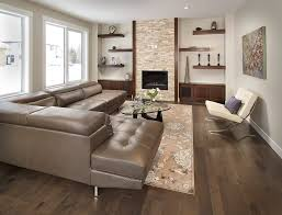 ideas for floating shelves living room contemporary with dark wood shelves stone fireplace floating shelves