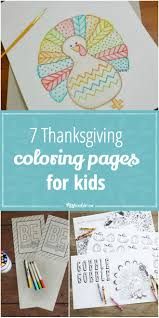 7 Thanksgiving Coloring Pages For Kids