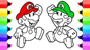 Coloring Pages Mario Super Mario Coloring Pages Nintendo Super Mario And Luigi Coloring Page For Kids