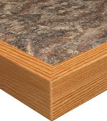 High Pressure Laminate Surface with Wood Edge