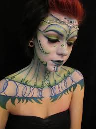 alien princess creative makeup my 15 year old daughter did on herself face paint theater