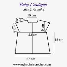 Crochet Baby Sweater Size Chart 19 Best Crochet Baby Size Charts Images Baby Size Chart