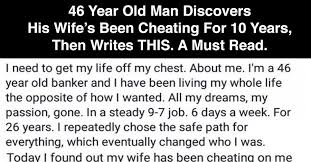 Cheating Wife Quotes Best 48 Year Old Man Discovers His Wife's Been Cheating For 48 Years