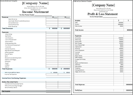 balance sheet vs income statement template profit and loss statement template excel vs income balance