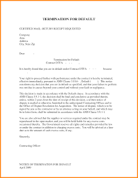 5 Contract Termination Letter Format Driver Resume