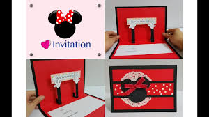 diy 6 kids party handmade invitation card idea mickey minnie themed