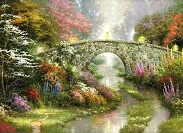 awesome garden of prayer or thomas kinkade garden of prayer new stillwater bridge thomas kinkade painting
