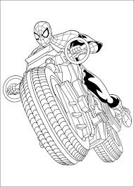 You can download or print a lot of coloring pages with modern. Spiderman Driving Motorcycle Coloring Page Free Printable Coloring Pages For Kids