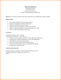 body of the letter sample auto body technician resume sample