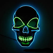 Light Up Skull Mask Arosetop Scary Death Skull Mask Led Ligh