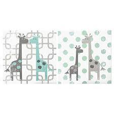 uptown giraffe 2 piece canvas wall art