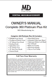 ebk 360 complete kit documentation help md central vacuum owner s manual platinum plus kit