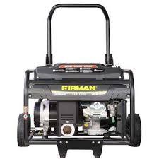 5500 7000 watt gas powered portable generator with wheel kit