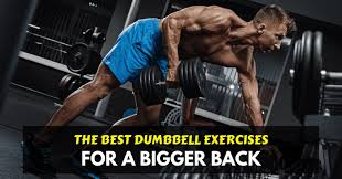 back exercises with dumbbells