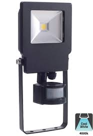 bell skyline 10w led outdoor pir security floodlight black ip65