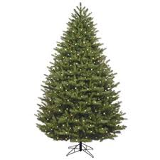 GE 7.5-ft Pre-lit Oakmont Spruce Artificial Christmas Tree with 1000  Constant Clear