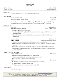 Sample Wildlife Biologist Resume Resume Example Biology Resume