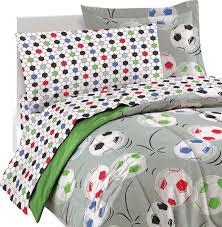 soccer full bedding set 7pc comforter sheets