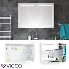 Vicco Led Spiegelschrank Weiß Badschrank Badspiegel B Real