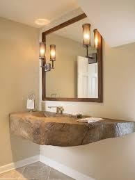 Image Sink Unique Chunky Diy Floating Vanity With Glass Tubular Wall Sconces Using Beige Wall Color For Impressive Bathroom Ideas Goghdesigncom Unique Chunky Diy Floating Vanity With Glass Tubular Wall Sconces