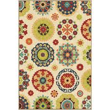 orian rugs indoor outdoor medallion hubbard multi area rug 6 5 x 9