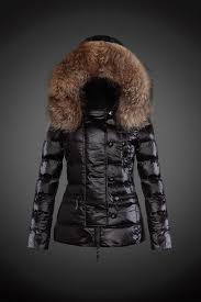 2016 y 22 fur hooded down jacket for women in black moncler jackets