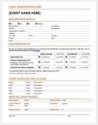 Word Forms Templates Event Registration Forms Template For Ms Word Word