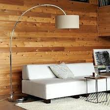 overarching floor lamp. Overarching Floor Lamp Linen Shade Polished Nickel Antique Bronze