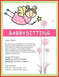 Babysitting Flyer Template Microsoft Word Free Babysitting Template Flyer Atlasapp Co