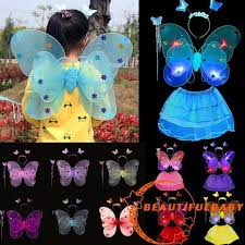 BღBღ2018 <b>Hot Sale Lovely</b> Princess Kids Butterfly Wings +Wand+ ...