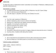 Phlebotomy Resume Examples Mesmerizing Entry Level Phlebotomy Resume Download By Entry Level Phlebotomy