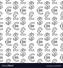 Currency Symbols Seamless Pattern Royalty Free Vector Image