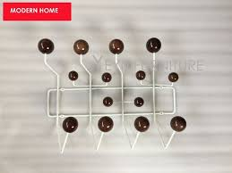 Ball Coat Rack Modern Home Design White Steel Wire Walnut Color Balls hang it all 45