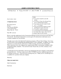 Construction Cover Letter Photos Hd Goofyrooster