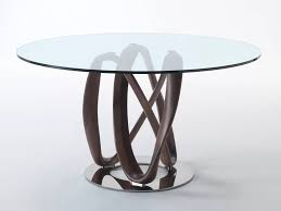 porada infinity round glass dining table by chaplins