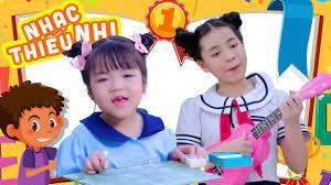 Ngày đầu tiên đi học, Món quà tặng cô | Nhạc Thiếu Nhi Vui Nhộn | Bé Minh  Vy, Bé Mỹ Anh, Bé Mai vy