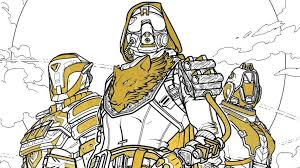 ahead of destiny 2 s release an official destiny coloring book is ing