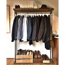 Shoe Rack And Coat Hanger Rustic Industrial Clothes RailRack Clothes rail Clothes hanger 91