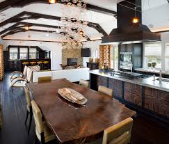living edge lighting. Living In The Woods Kitchen Contemporary With Pendant Lighting Table Open Edge V