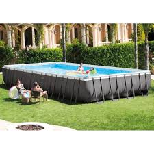 rectangle above ground swimming pool. Intex Ultra Frame Rectangular Above Ground Swimming Pool 32ft X 16ft 52\ Rectangle E