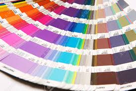 Fashion Colour Chart Opened Pantone Color Chart Fanned Out To Show The Spectrum Of