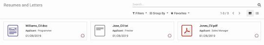 Recruitment Cv Odoo Open Source Recruitment Application