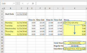 Excel Overtime Formula Time Sheet In Excel Easy Excel Tutorial