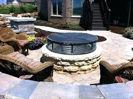metal fire pit cover. Outdoor Fire Pit Cover Metal Covers Flat