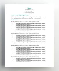 resume templ functional resume template