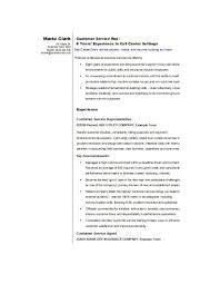 Customer Service Resume Examples Custom Free Cv Templates Customer Service