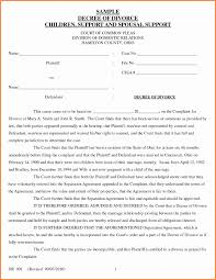 Sample Divorce Agreement Virginia Separation Agreement Template New Divorce Decree Sample 1
