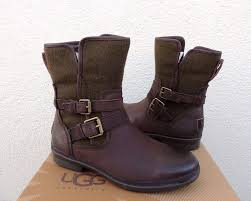 ugg simmens leather wool sheepskin waterproof ankle boots