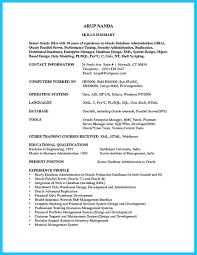 Nice High Impact Database Administrator Resume To Get Noticed