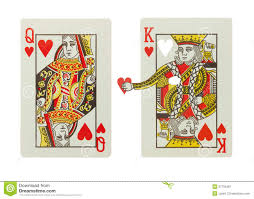 King And Queen Of Hearts Designs King And Queen Of Hearts In A Relationship Stock Image